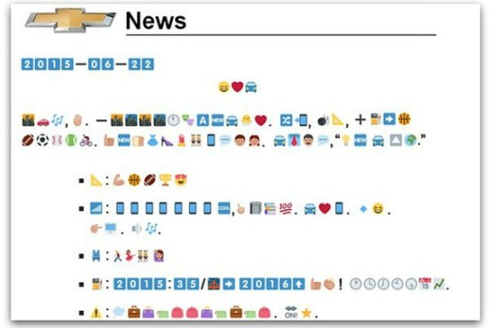 Innovation in press releases – emoji the new language