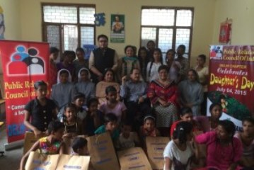 PRCI, Delhi Chapter Celebrated Daughter's Day with underprivileged girls