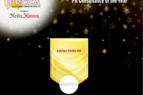 Adfactors PR is Agency of the Year at IPRCCA 2016