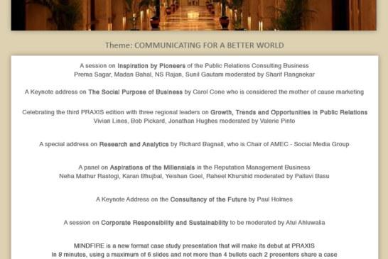 PRAXIS 2014 Agenda